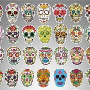 10 Skull Stickers For Water Bottle Skateboard